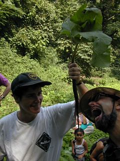 Burdock root that a tour participant dug up